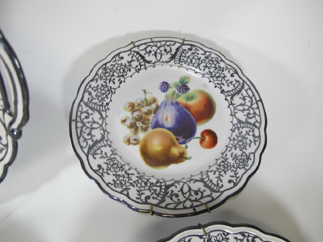 Set of 7 pcs Italian Ginori porcelain tray & plates - 5