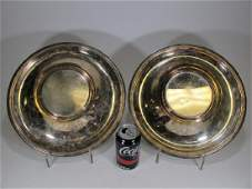 Pair of French Christofle silverplate service pieces