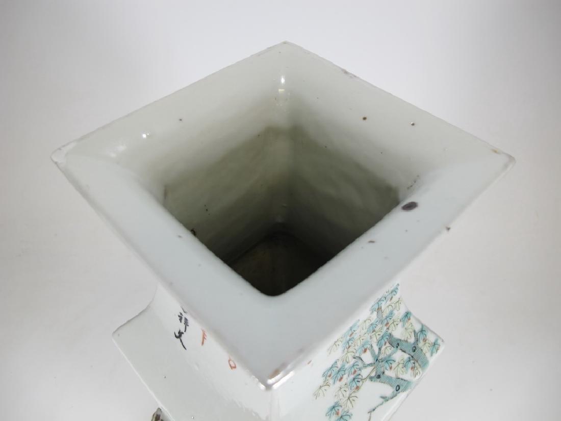 Vintage Chinese porcelain vase - 5