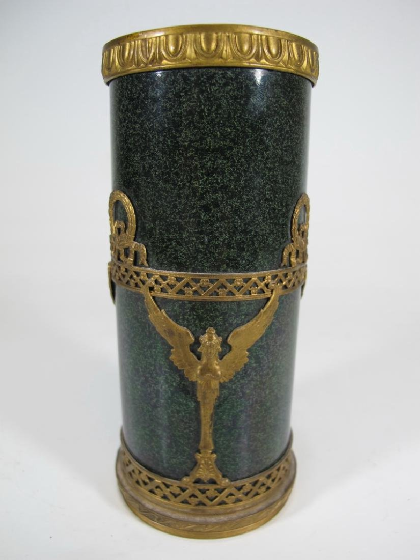 Antique French Sevres bronze & porcelain vase