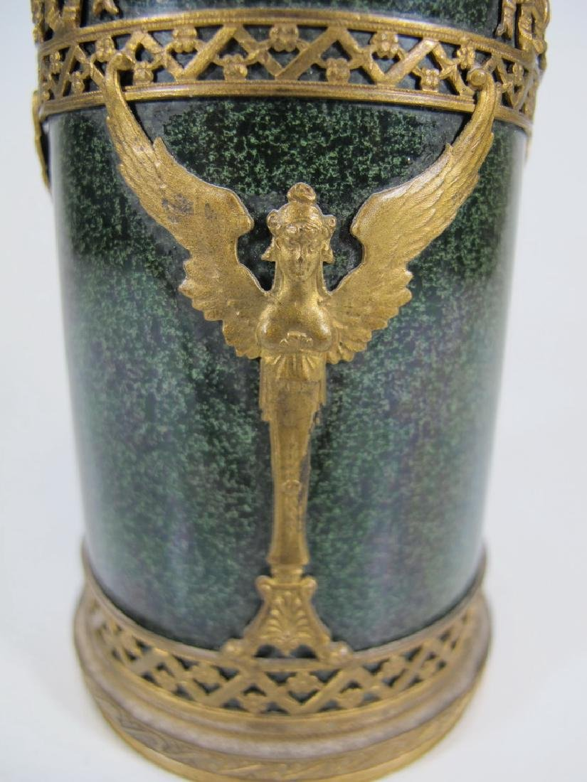 Antique French Sevres bronze & porcelain vase - 3