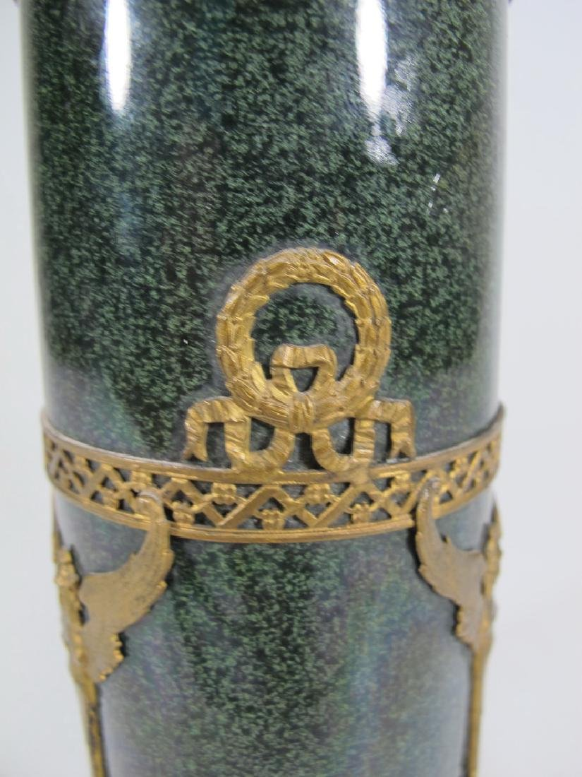 Antique French Sevres bronze & porcelain vase - 4