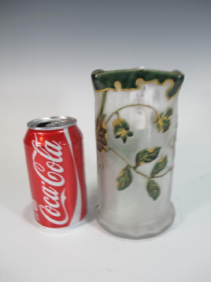 Mont Joye St Denis Legras original cameo glass vase