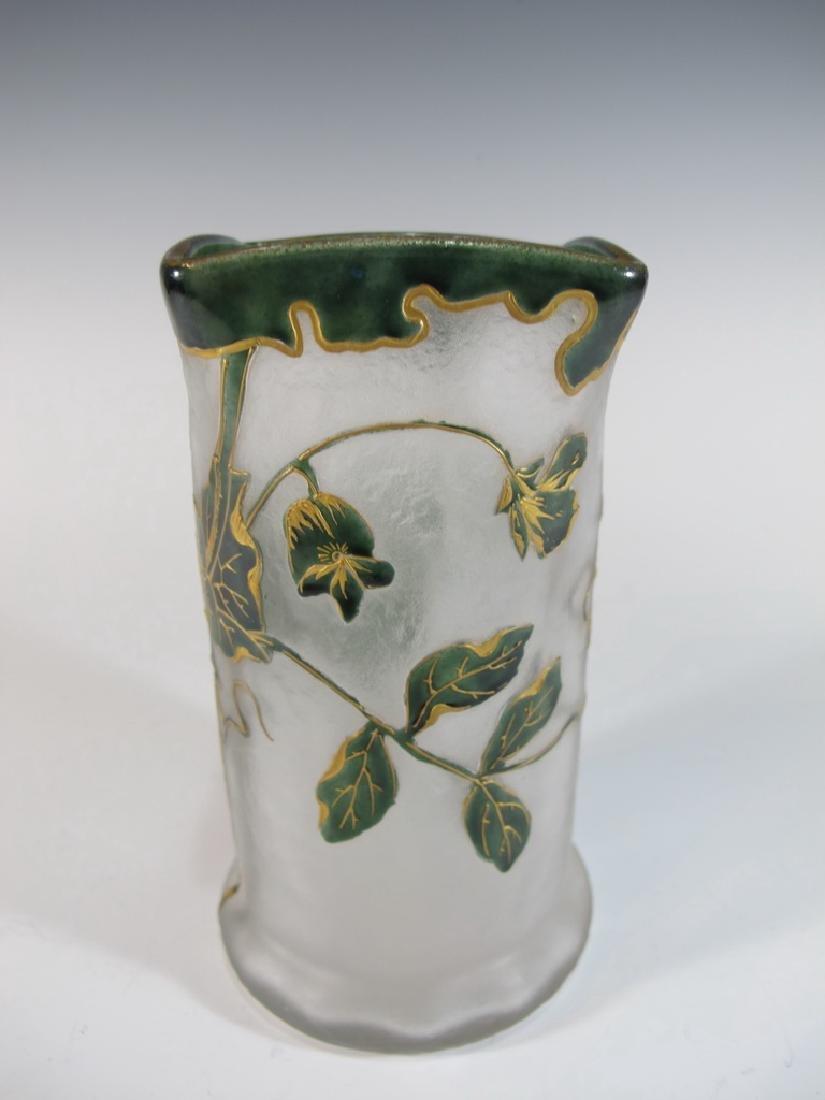 Mont Joye St Denis Legras original cameo glass vase - 5