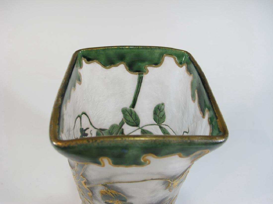 Mont Joye St Denis Legras original cameo glass vase - 6
