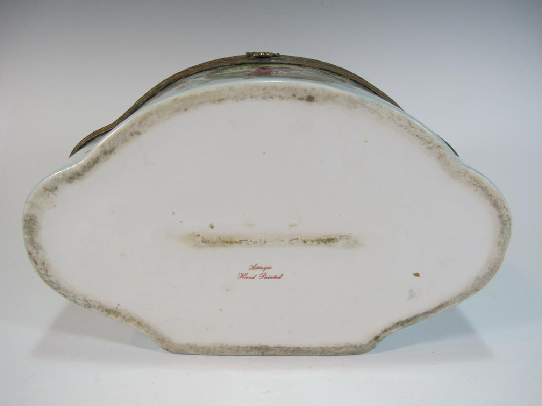 Antique Limoges porcelain box - 8