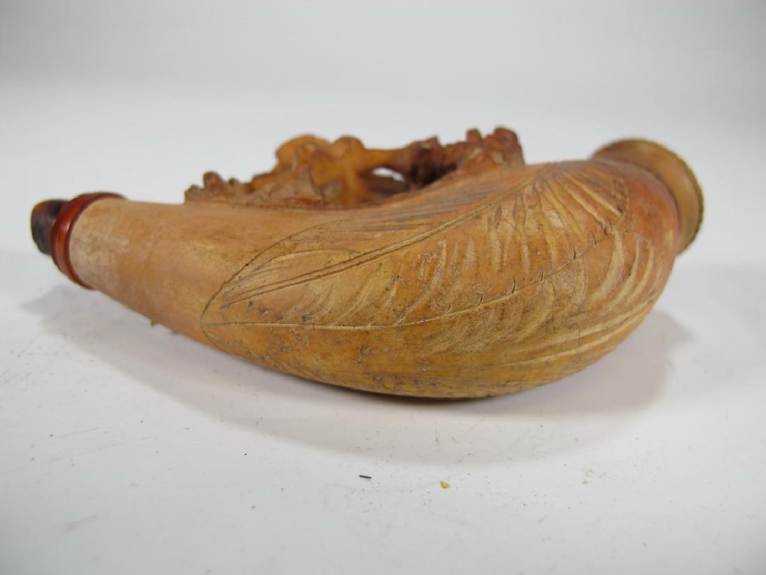Antique English birds meerschaum cigarette holder - 6