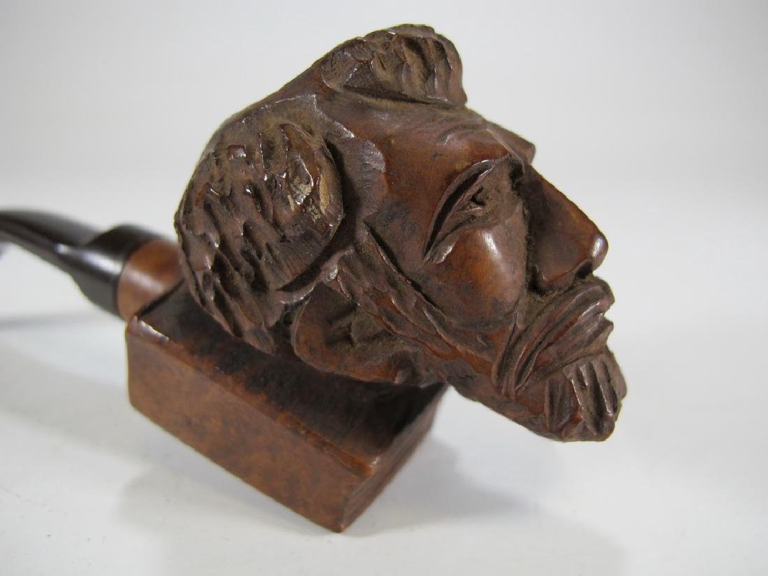 Antique Italian carved wood pipe - 2