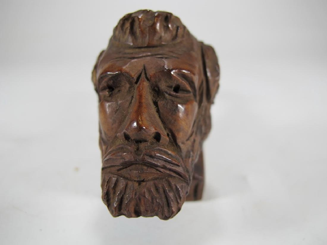 Antique Italian carved wood pipe - 3