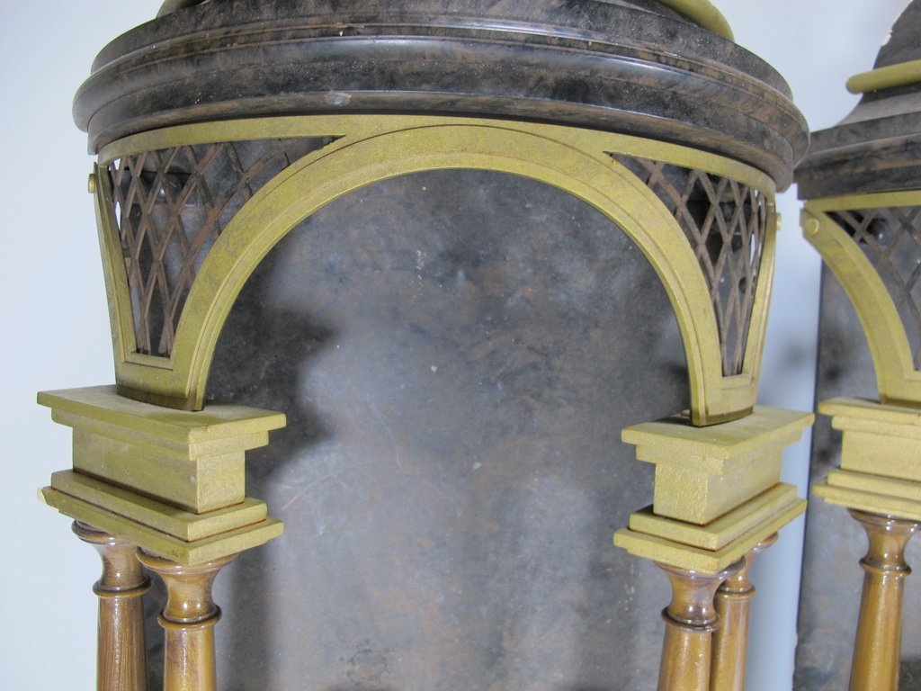 Antique pair of European iron wall sconces - 3