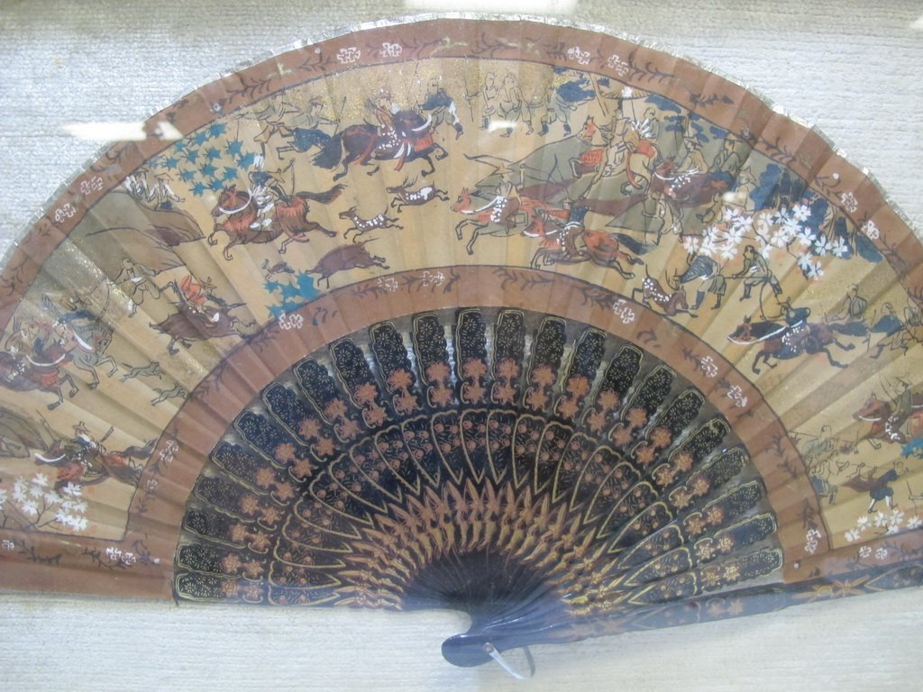 Antique Chinese fan in a box - 2