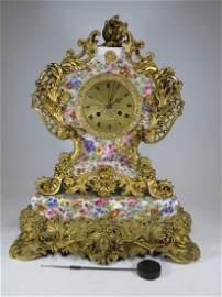 C�sar H Pons (1773-1851) Jacob Petit porcelain clock