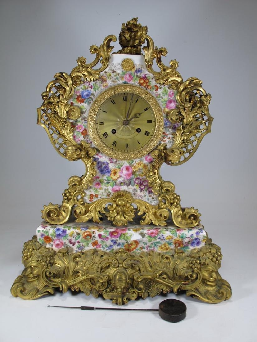 CÉsar H Pons (1773-1851) Jacob Petit porcelain clock