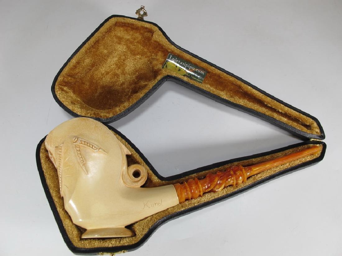 Never used Masonic Meerschaum pipe by Kural