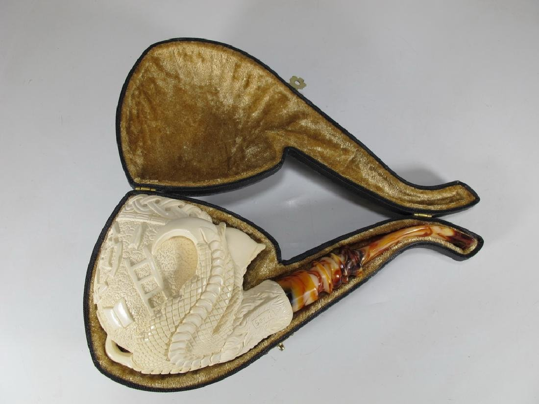 Never used Masonic Meerschaum pipe by Servi
