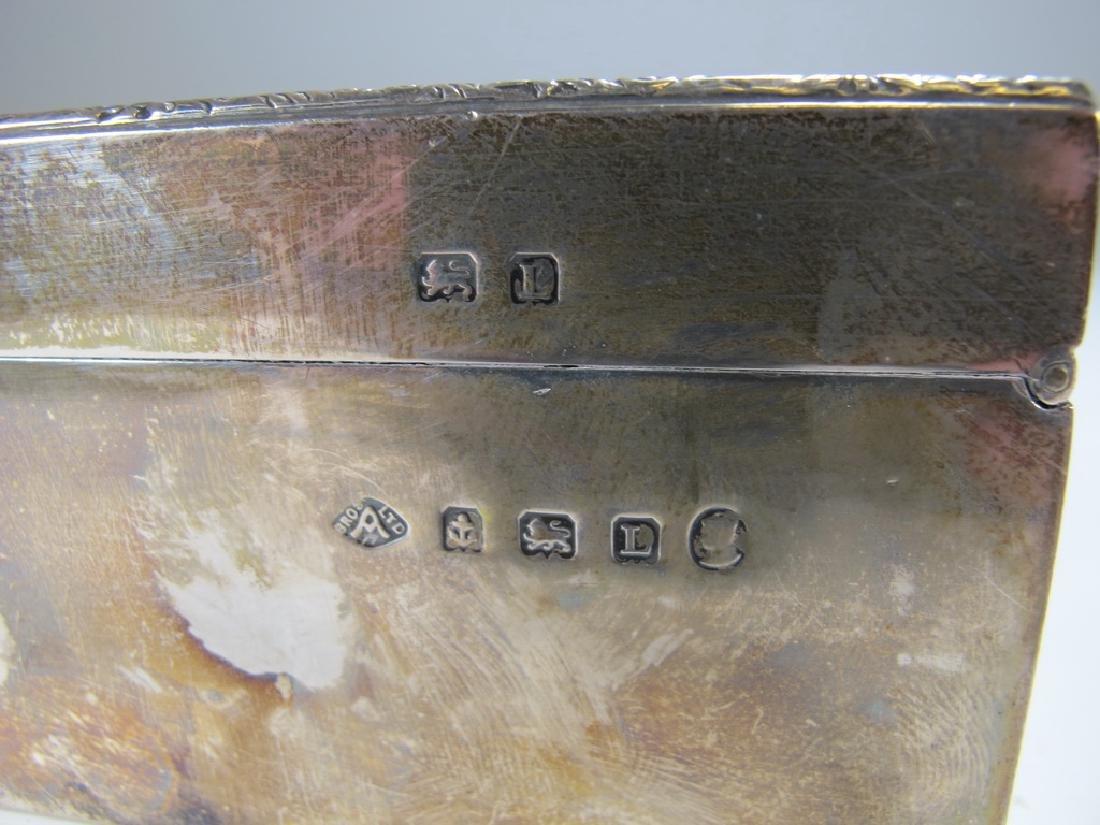 Antique English Masonic silver cigarette box - 4