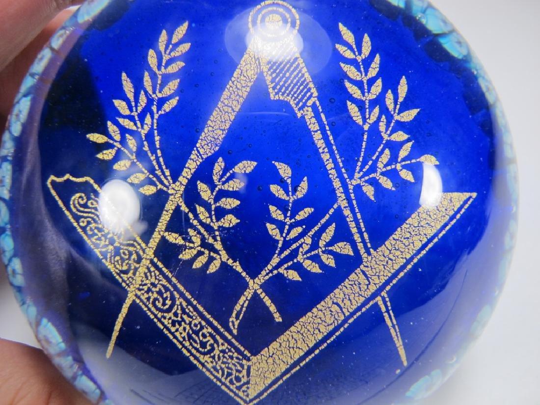 Vintage Murano Millefiore Masonic Symbol paperweight - 6