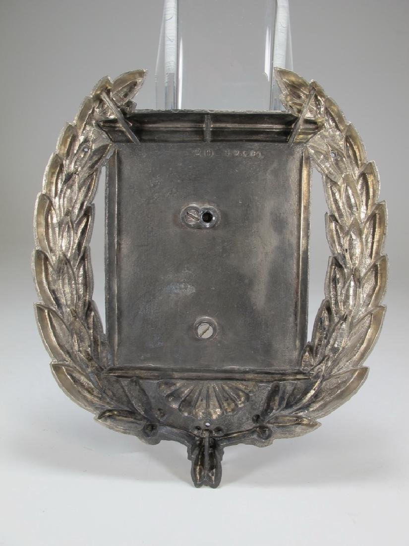 Masonic symbol of square and compass in wreath metal - 3