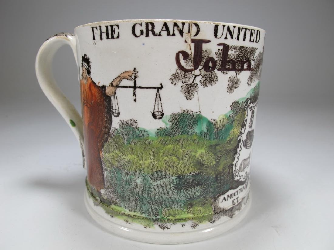 Antique Masonic porcelain mug - 3