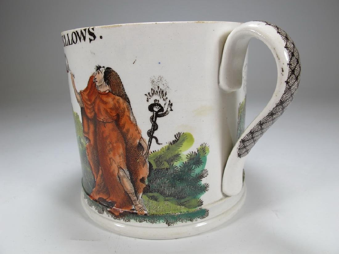 Antique Masonic porcelain mug - 5