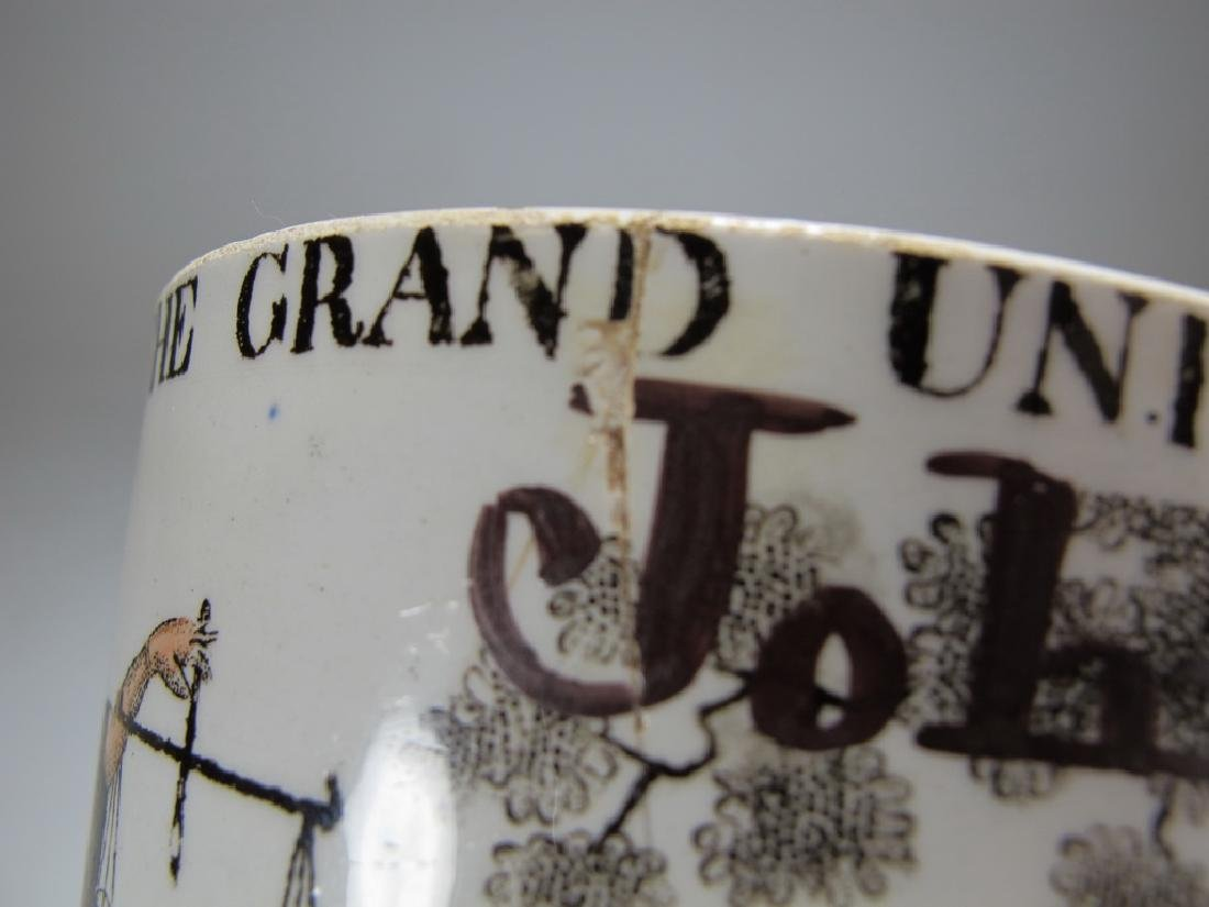 Antique Masonic porcelain mug - 8