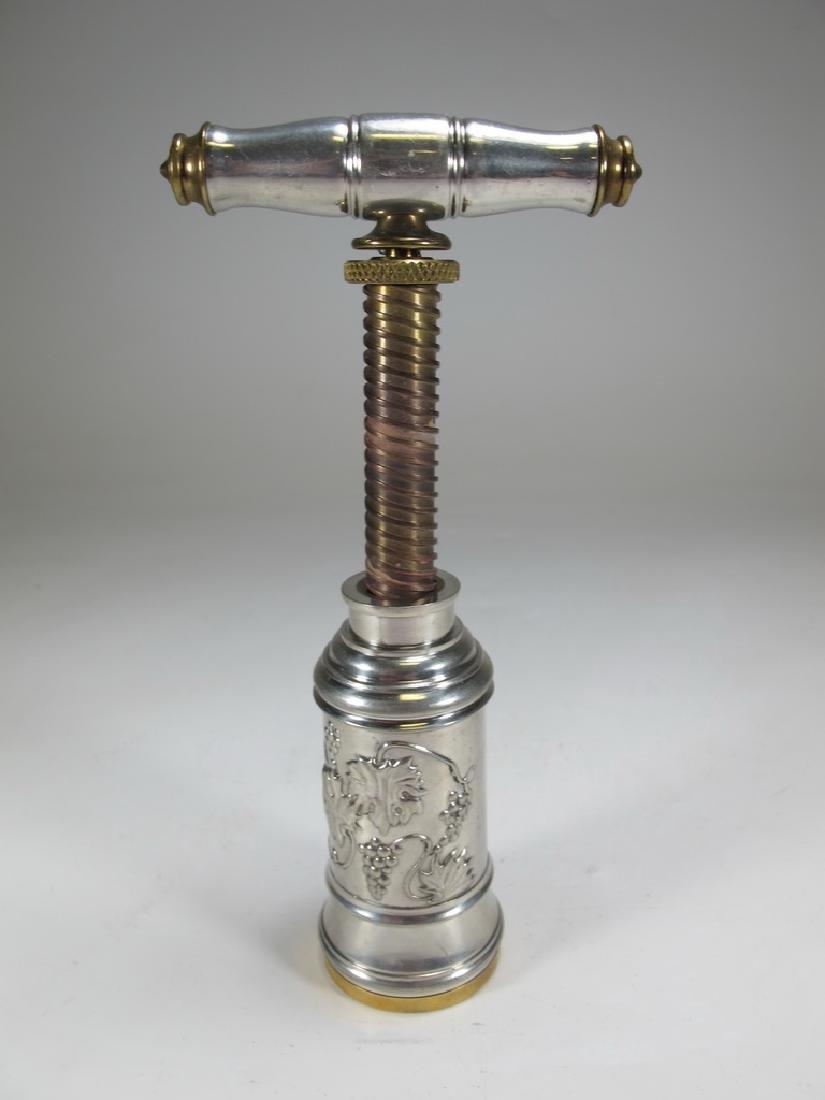Vintage meta & enamel Masonic corkscrew