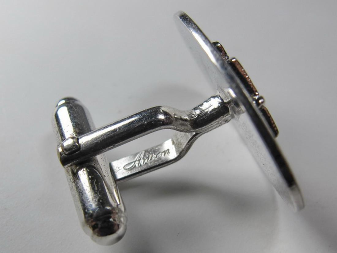 Pair of Anson sterling Masonic cufflinks - 5