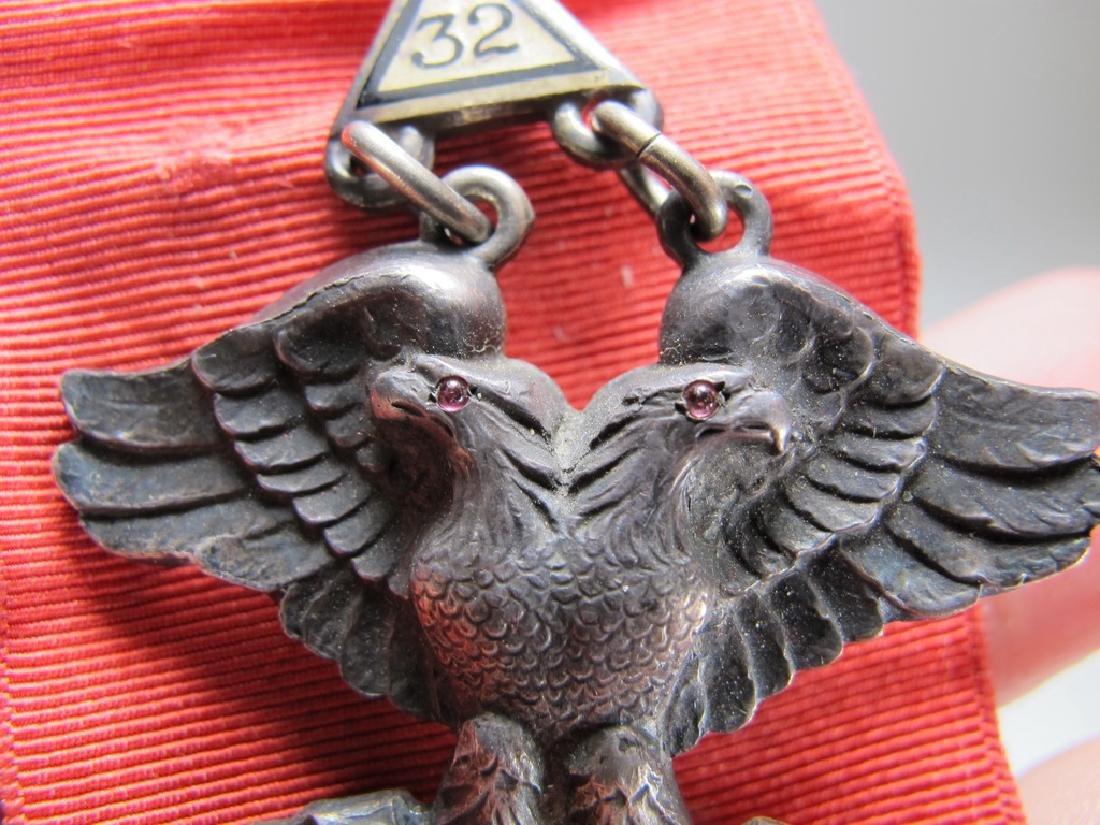 Sterling Masonic breast jewel 32nd. Degree Scottish - 8