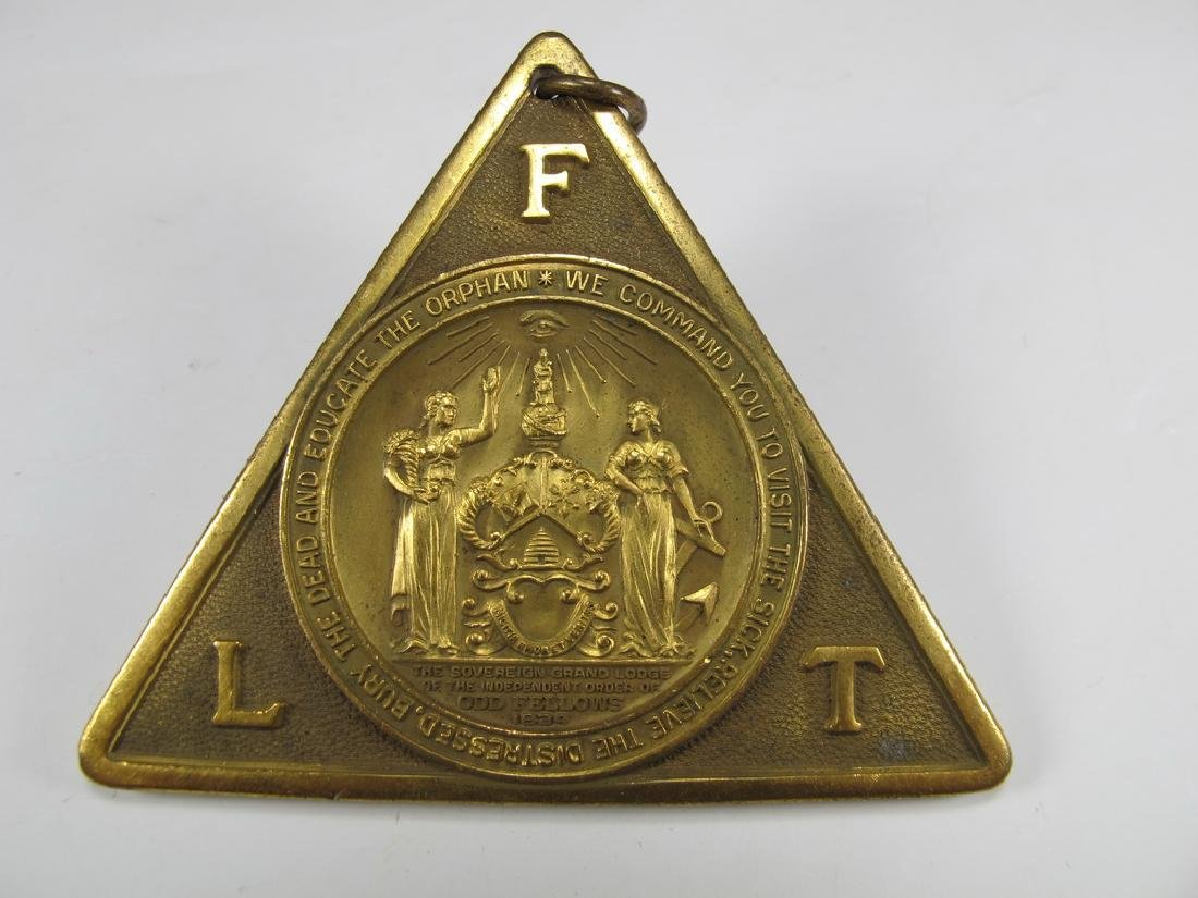 Antique bronze Masonic collar jewel