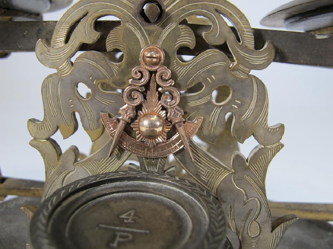 Antique English Masonic Melliship & Harris scale - 4