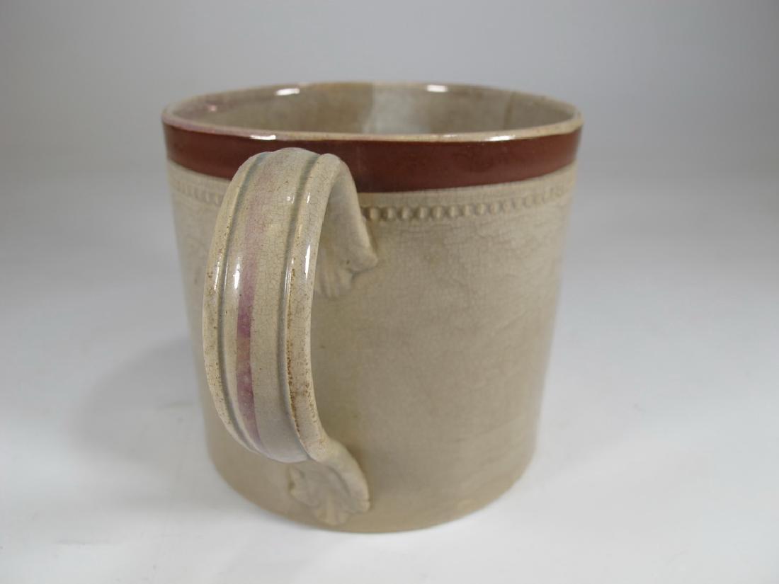 Vintage Sunderland luster Masonic Odd Fellows Honor mug - 4