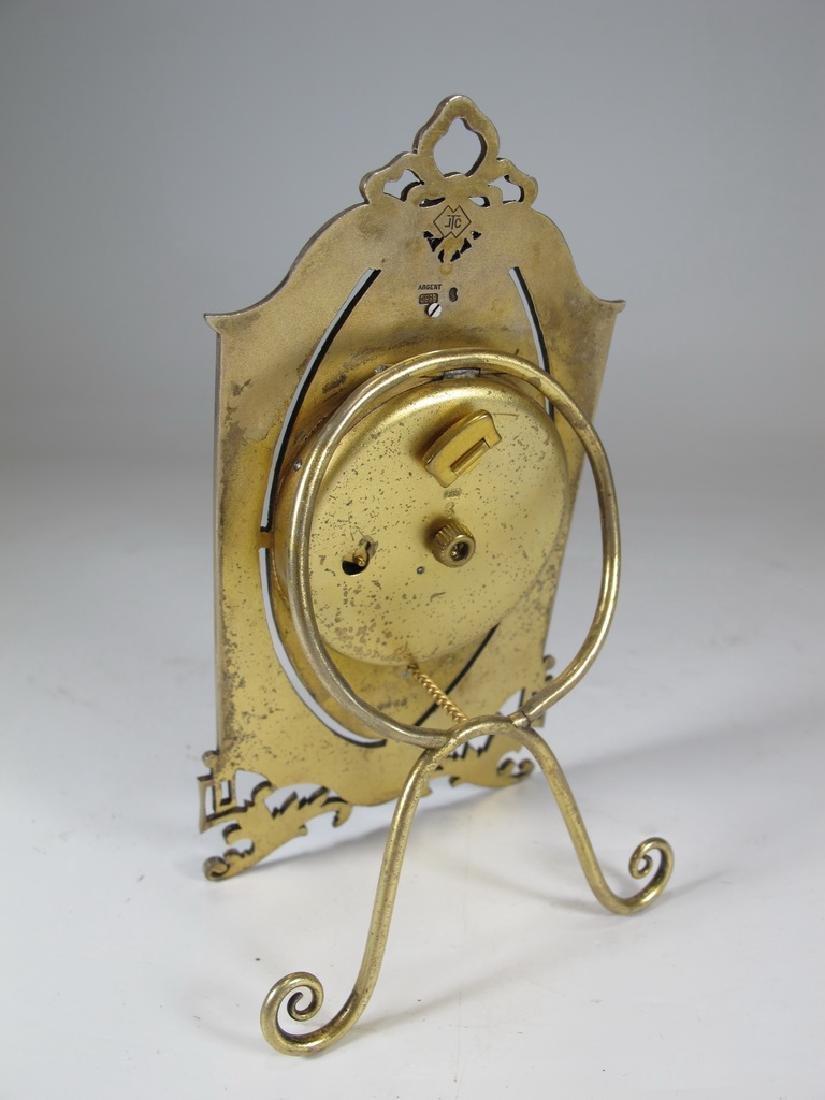 Marked JTC Masonic 935 silver & enamel clock - 5