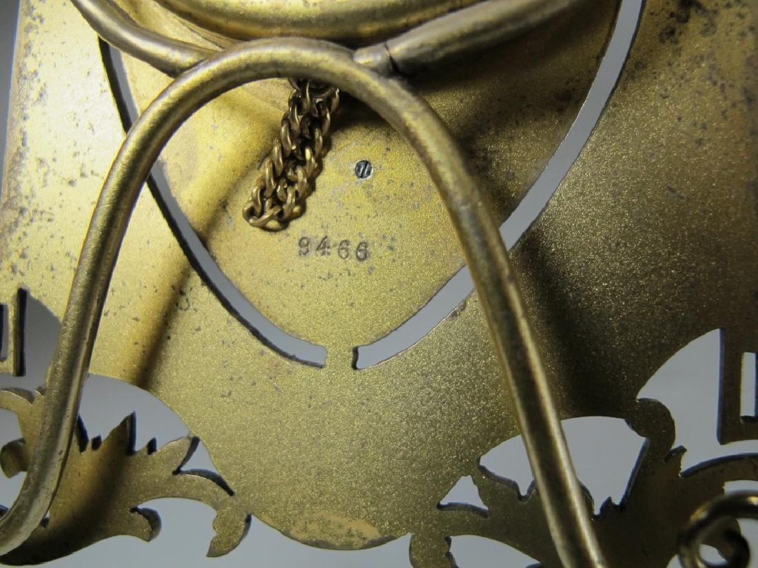 Marked JTC Masonic 935 silver & enamel clock - 7