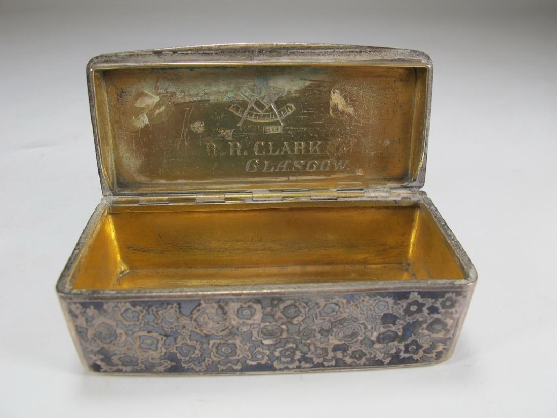 Antique Russian Masonic silver snuff box - 4