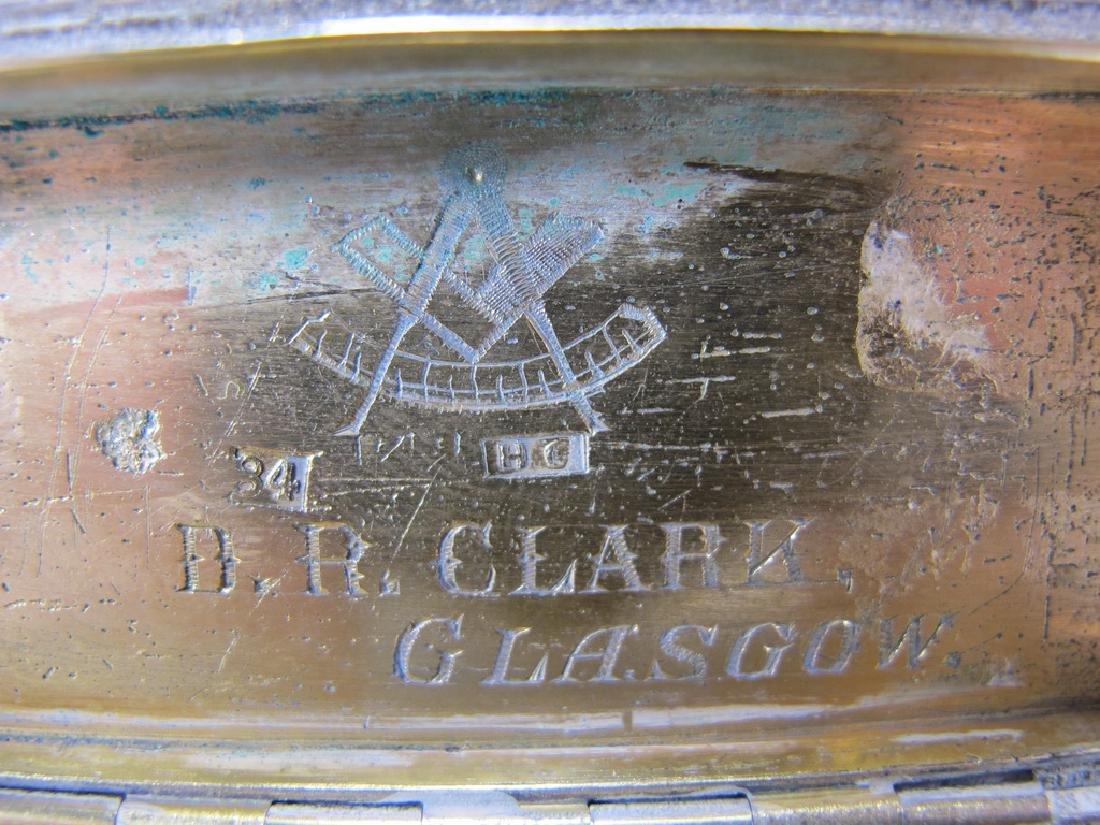 Antique Russian Masonic silver snuff box - 5
