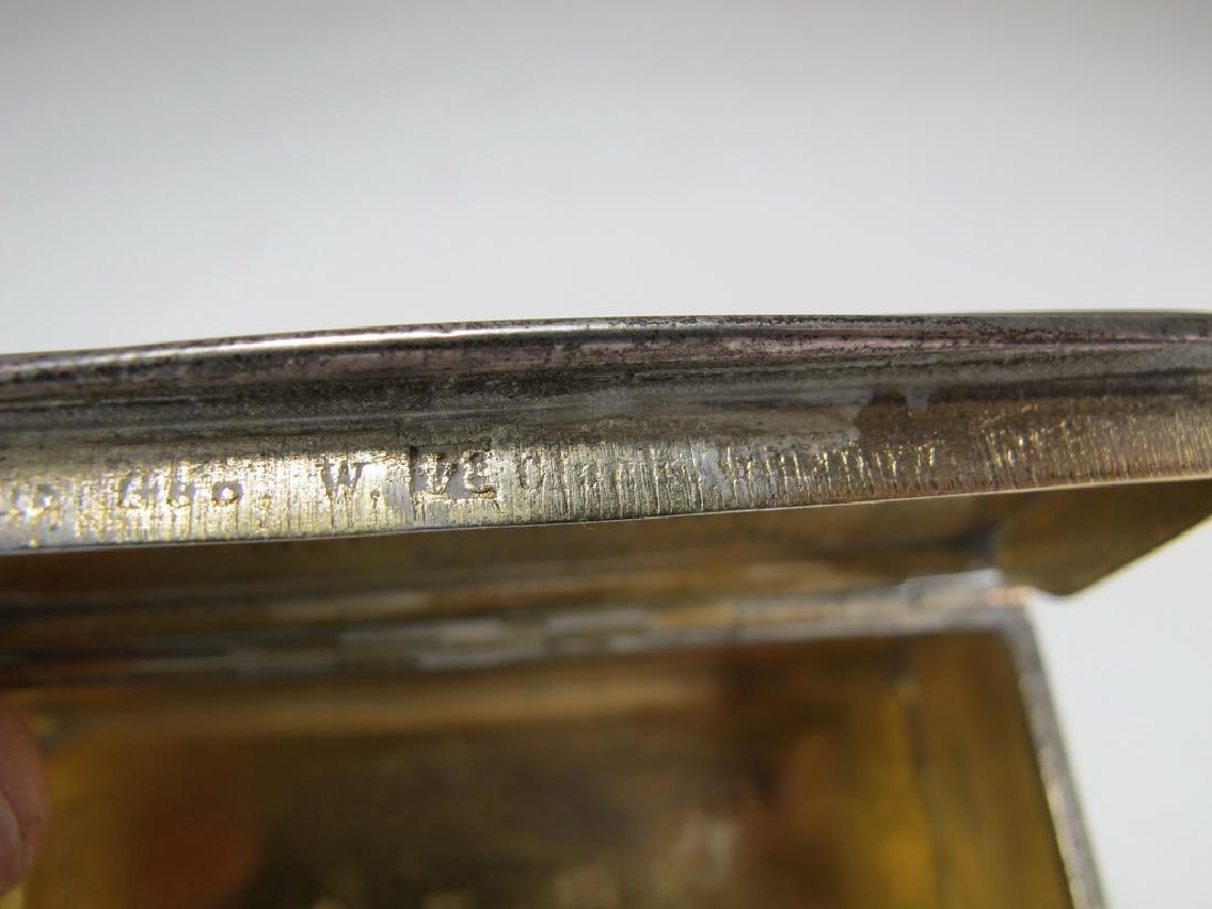 Antique Russian Masonic silver snuff box - 7