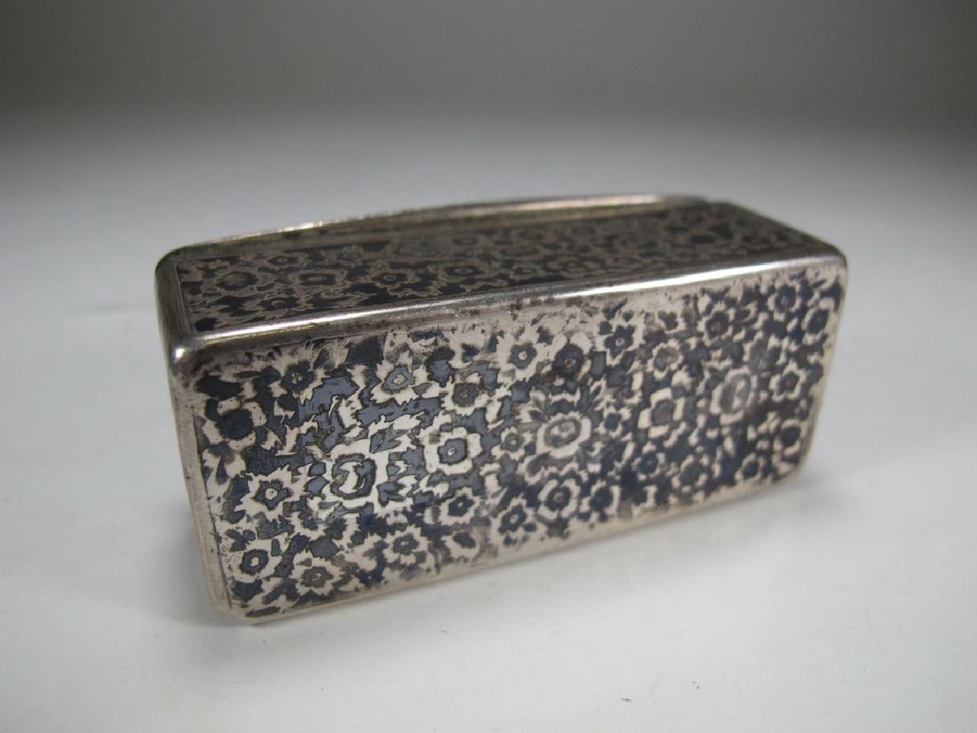 Antique Russian Masonic silver snuff box - 8
