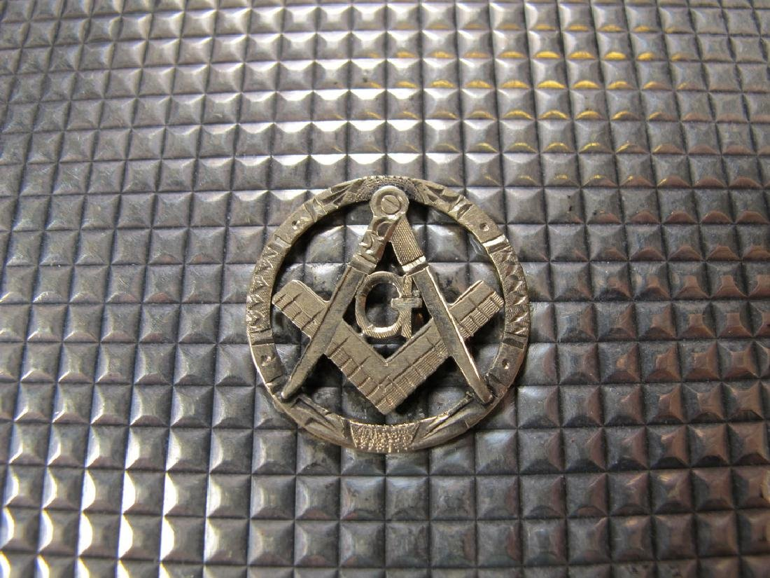 Vintage Masonic sterling cigarette box - 3