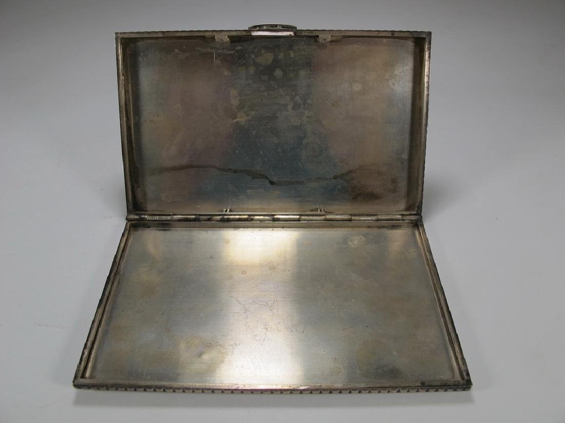 Vintage Masonic sterling cigarette box - 4