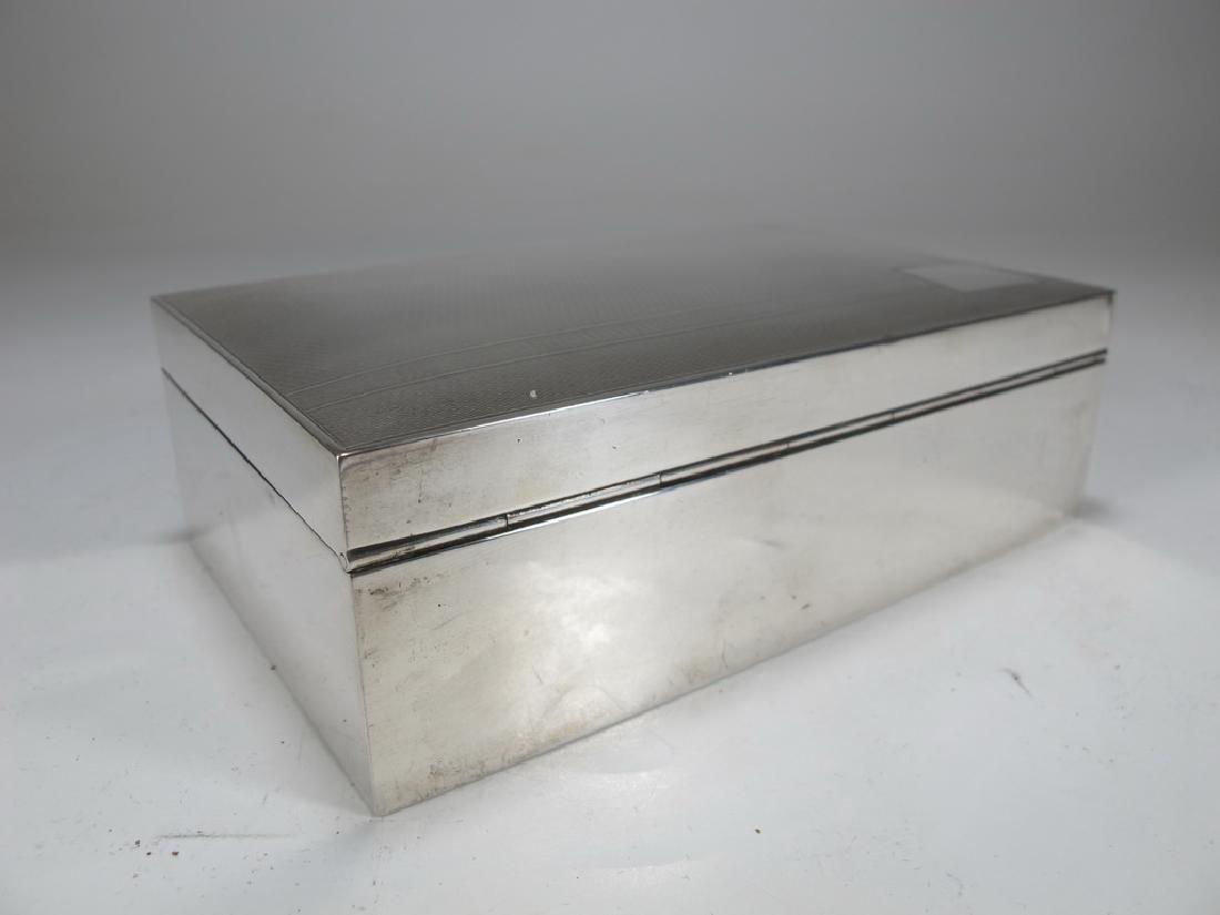 Vintage English Masonic Silver cigarette box - 7