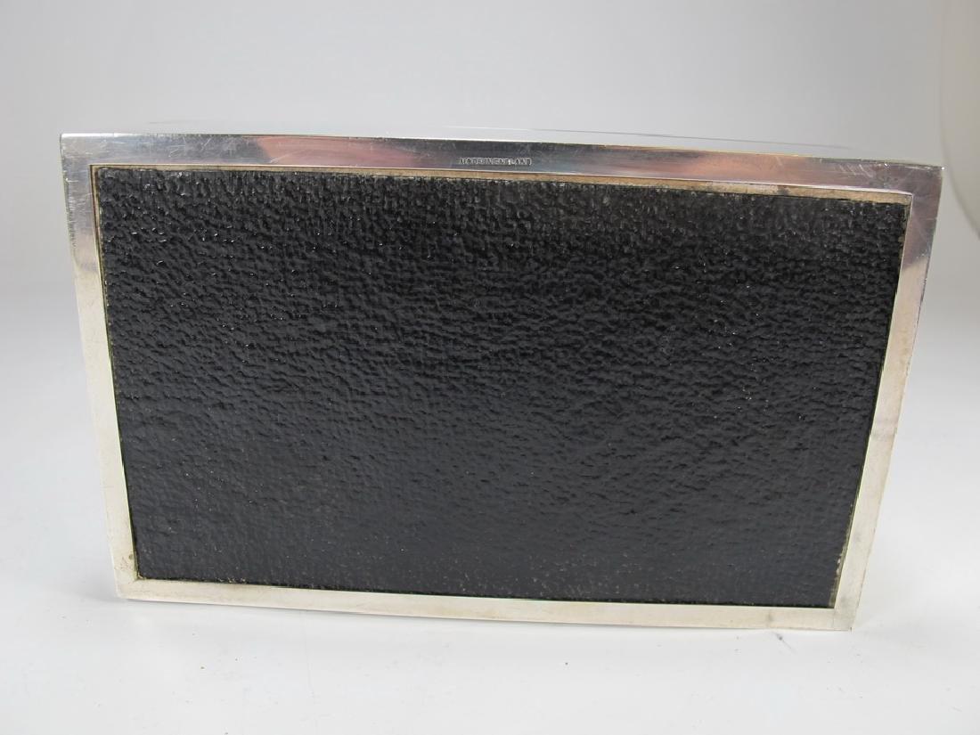 Vintage English Masonic Silver cigarette box - 8