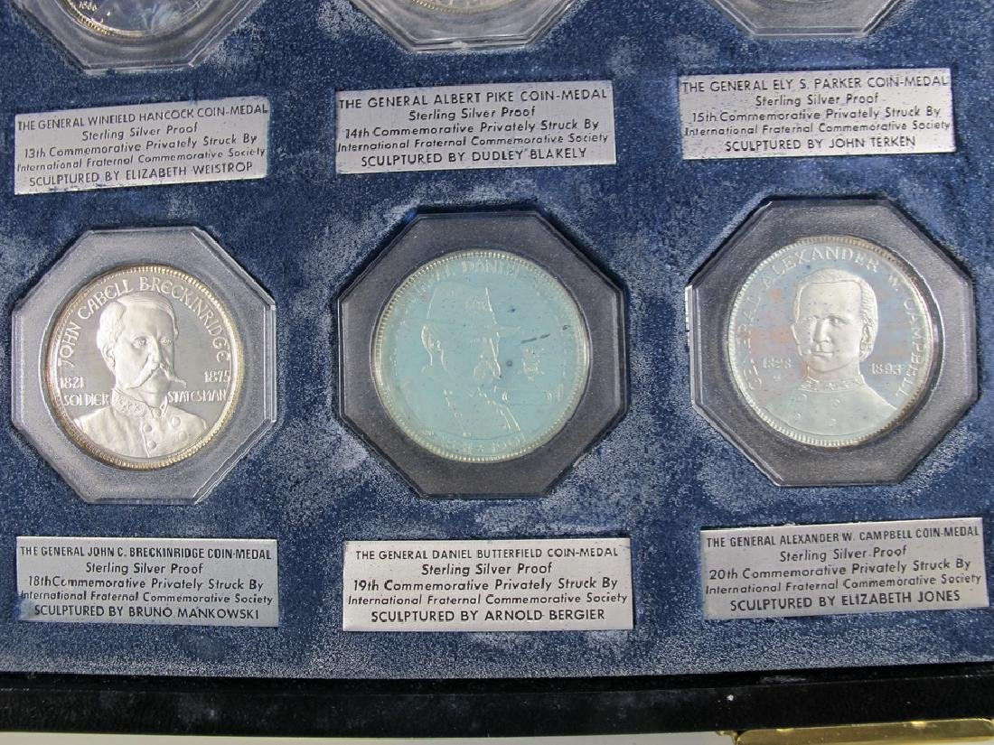 Presentation box with 10 sterling Masonic coin-medals - 7