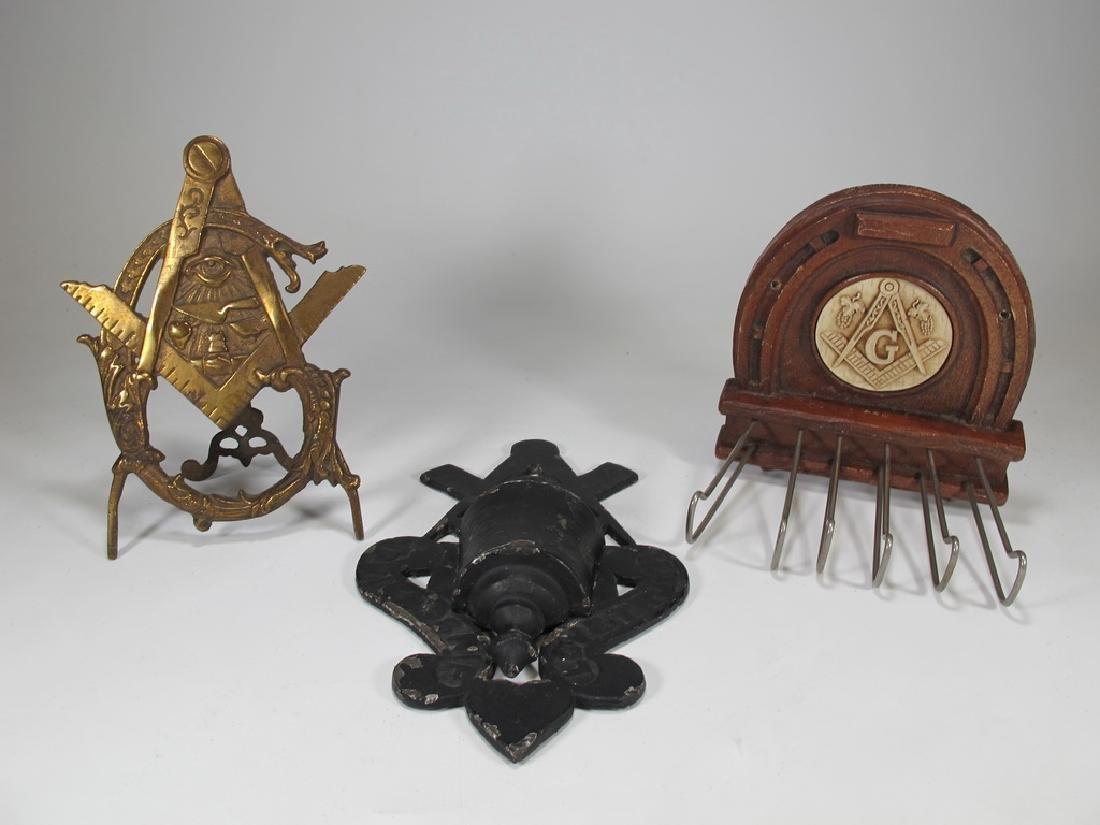 Lot of 3 antique Masonic pieces