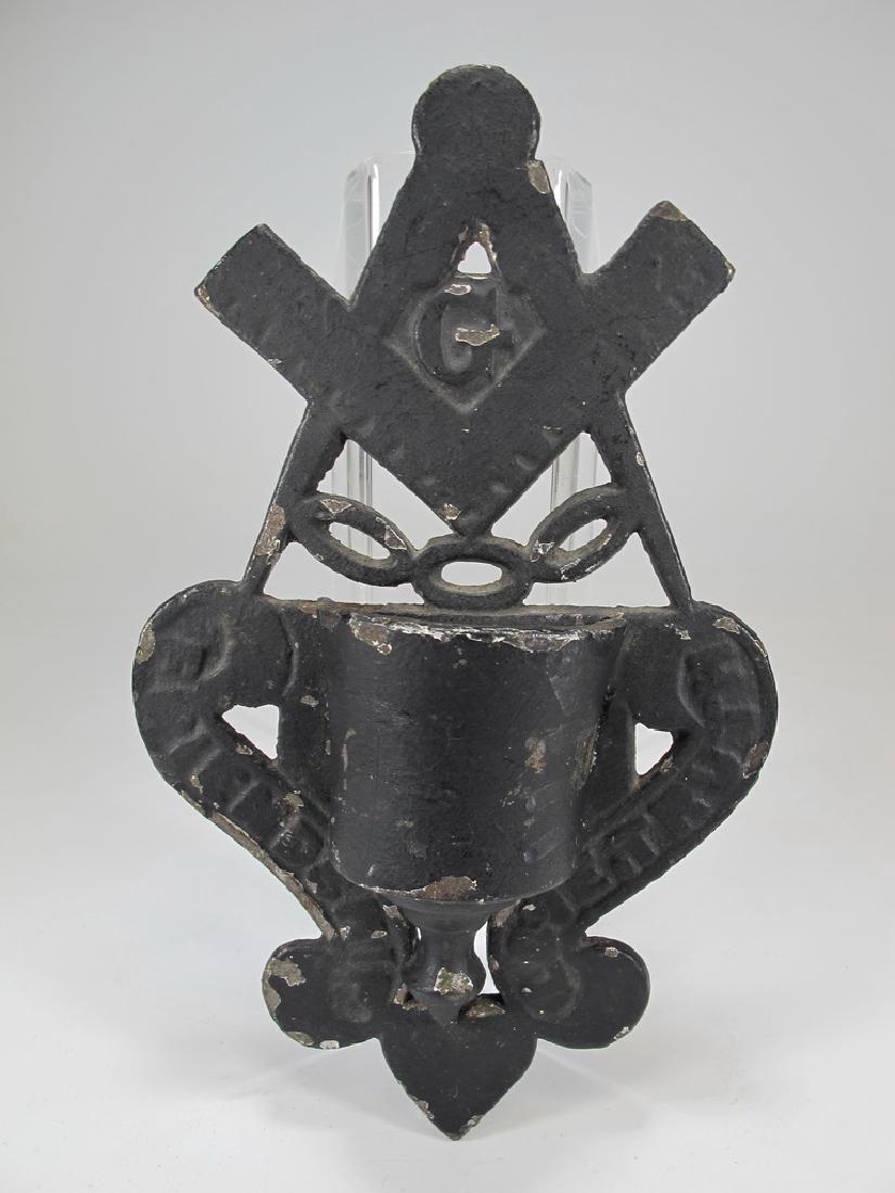 Lot of 3 antique Masonic pieces - 6