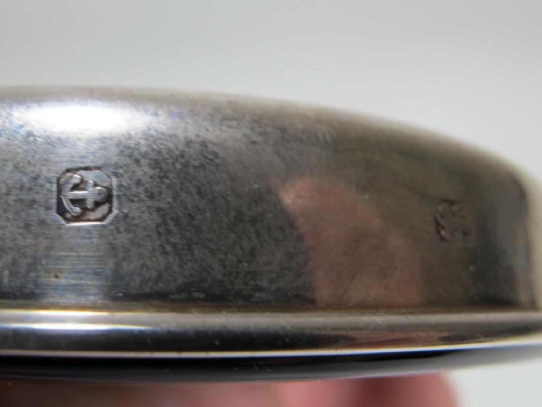 Vintage Masonic sterling 925 & glass paperweight - 4