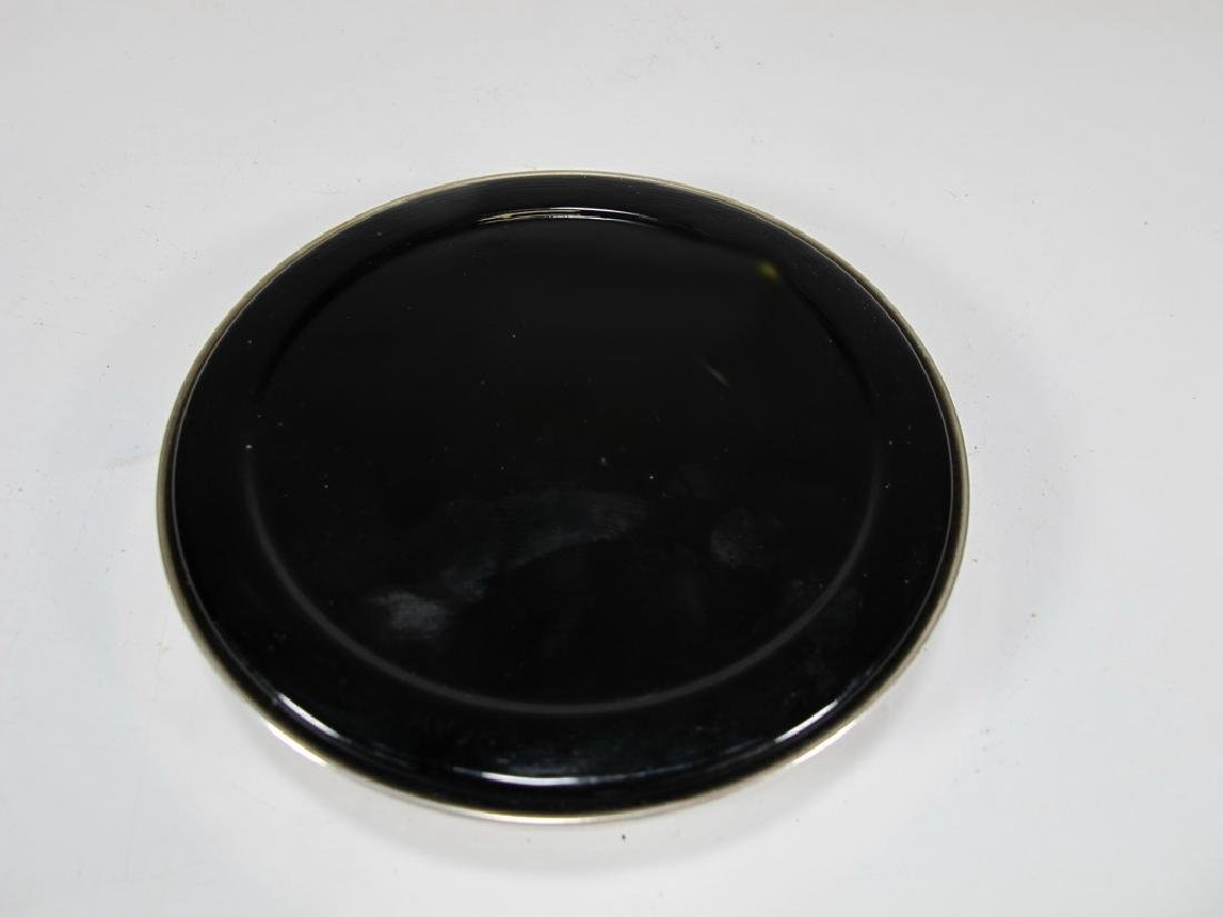 Vintage Masonic sterling 925 & glass paperweight - 9