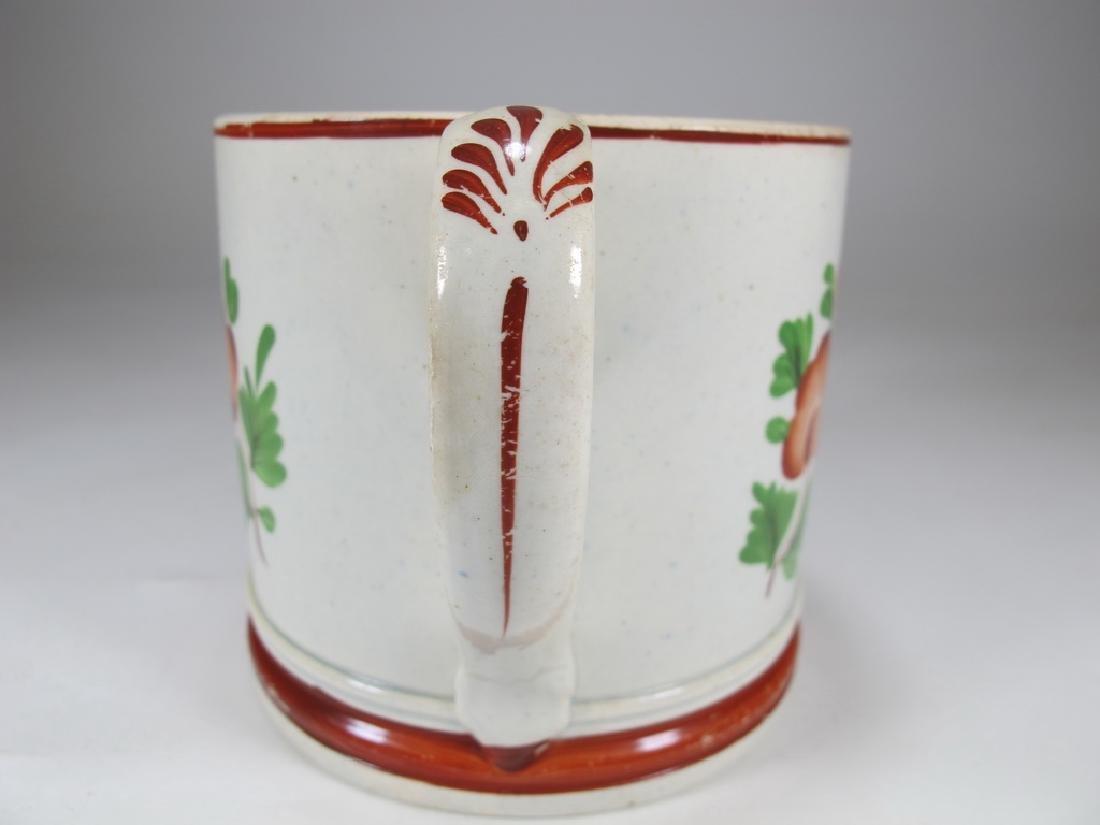 Antique English Masonic cream ware mug - 4