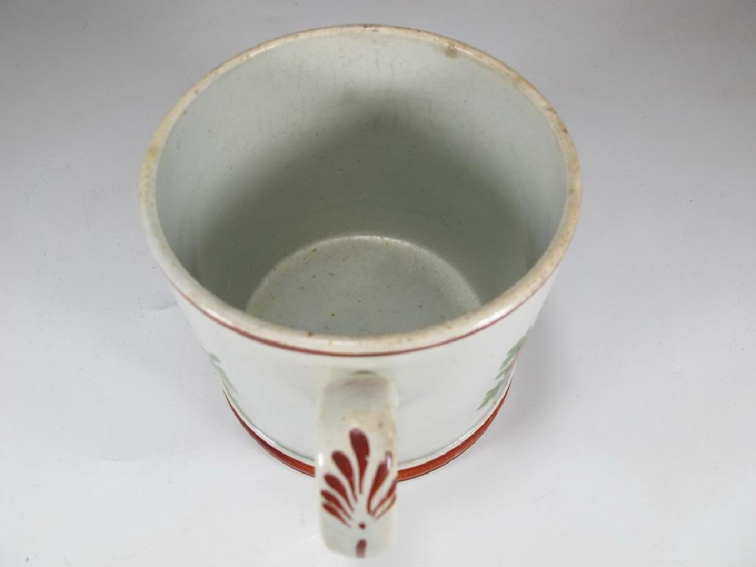 Antique English Masonic cream ware mug - 5