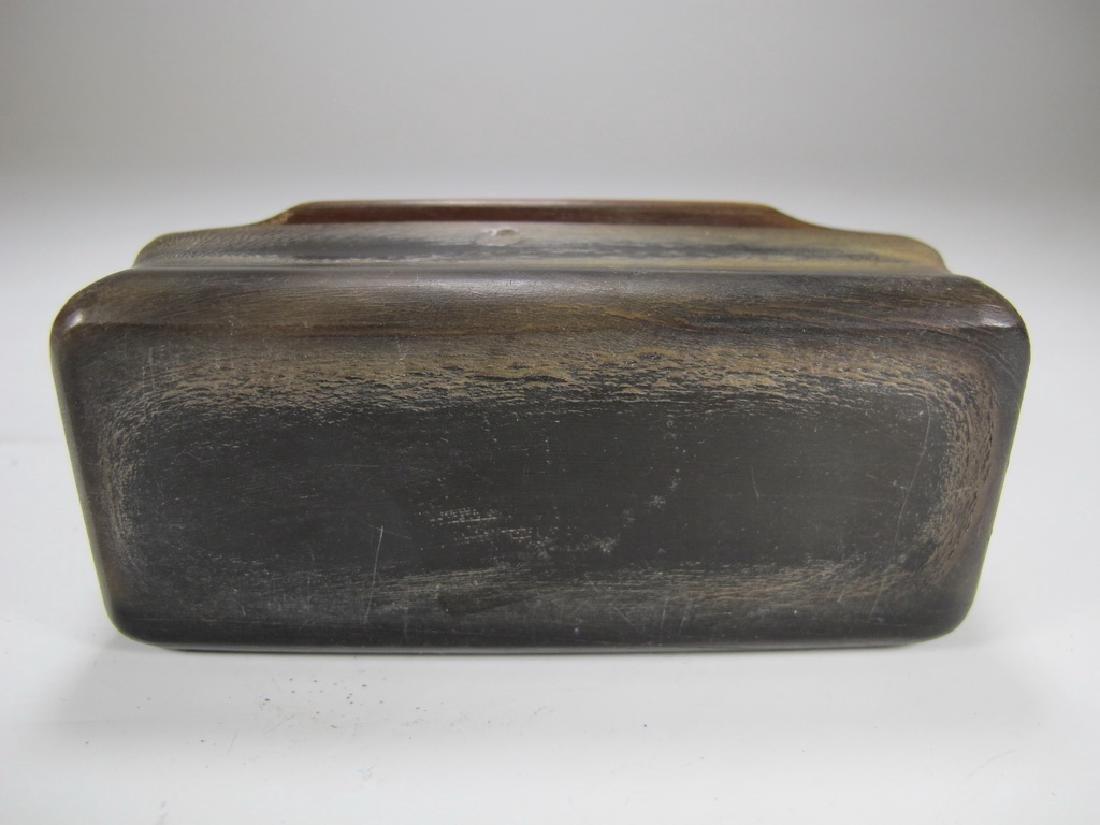 Vintage Masonic horn & 9 k gold snuff box - 5