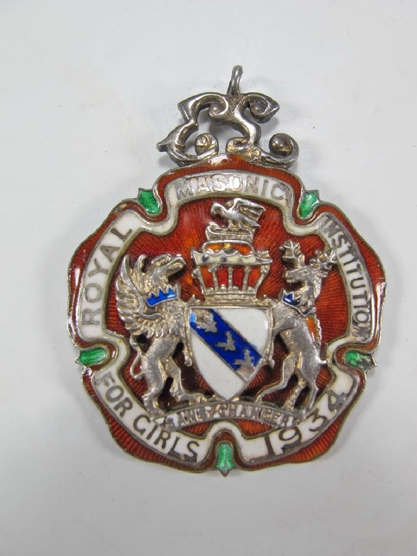 Antique English silver and enamel jewel